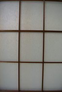 千代田ヴィレッジ障子ガラス