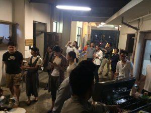 千代田ヴィレッジでのパーティー