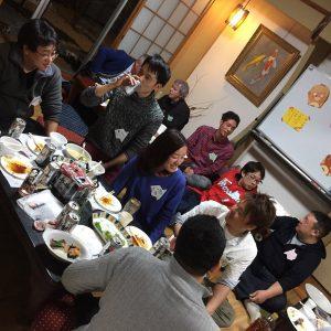 和室でパーティー
